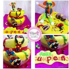 Torta carnaval de barranquilla pinksugar #pinksugar #cupcakes #homemade #casero #barranquilla #pasteleria #reposteriacreativa #tortas #fondant #reposteriabarranquilla #happybirthday #cake #baking #galletas #cookies #pinksugar #buttercream #vainilla #oreo #passionfruit #cupcakesbarranquilla #brownie #brownies #chocolate #carnaval #carnavaldebarranquilla #carnavalcake #tortacarnaval