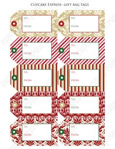 christmas tags dressy free