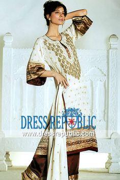 Off White Joliet, Product code: DR3682, by www.dressrepublic.com - Keywords: Indian Boutiques Springfield, Maryland, Bridal Lehenga Choli, Sharara Gharara Maryland, USA