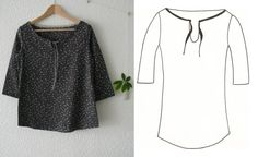 Image of Patron La Romantique How To Make Clothes, Diy Clothes, Blouse En Coton, Sewing Blouses, Women's Blouses, Couture Sewing, Couture Tops, Fashion Flats, Blouse Styles