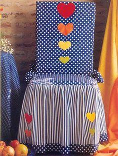 Arte e croche: Capa de cadeira 2 - passo a passo