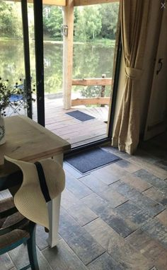 Wood Effect Tiles, Rustic Wood, Dining Table, Furniture, Home Decor, Dining Room Table, Decoration Home, Room Decor, Home Furniture