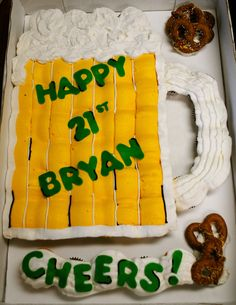 Beer Mug Cupcake Cake  on Cake Central                              …