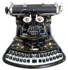 Crandall, New Model typewriter - 1886♥♥♥