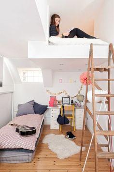 Pin on Kinderzimmer – Babyzimmer – Jugendzimmer gestalten Small Room Bedroom, Room Decor Bedroom, Girls Bedroom, Diy Room Decor, Home Decor, Bedroom Chair, Small Rooms, Kid Bedrooms, Bedroom Lighting