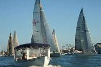 electric boat and sailboats, newport beach ca