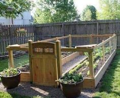 Vegetable garden fence vegetable garden fence fencing ideas for vegetable gardens easy garden fence ideas easy . Fenced Vegetable Garden, Raised Vegetable Gardens, Vegetable Garden Design, Fenced Garden, Sloping Garden, Raised Gardens, Building Raised Garden Beds, Raised Beds, Garden Fencing