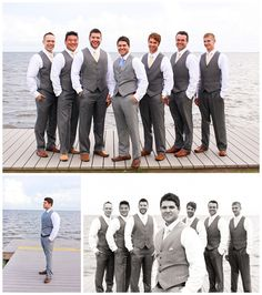 Yellow + Blue Wedding // Groomsmen // Pensacola, Florida // Sanders Beach Community Center // Kate's Captures Photography