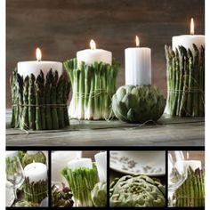Grønn bordpynt