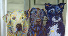 Kate Hoyer - stripes - commissioned artist, take a look. She does fabulous 'pet' pictures. Dog Pop Art, Dog Art, Jackson, Various Artists, Animal Paintings, Figurative Art, Pet Portraits, Dog Love, Adult Coloring