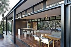 mid-century modern with contemporary rustic finishes: sold! | Westcliff Pavilion by GASS