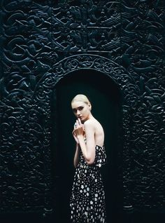Nastya Kusakina by Erik Madigan Heck for Harper's Bazaar UK March 2015 - Saint Laurent