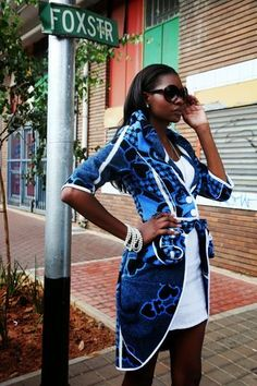 """African Prints in Fashion: """"Beautiful, Sopisticated, African"""": Thabo Makhetha African Attire, African Wear, African Women, African Dress, African Style, African Clothes, African Inspired Fashion, African Print Fashion, Africa Fashion"""