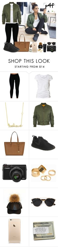 """Passion 4Fahion: Don't Entertain These Clowns"" by shygurl1 ❤ liked on Polyvore featuring AllSaints, Sydney Evan, Michael Kors, NIKE, Canon, Pieces, Christian Dior, women's clothing, women and female"