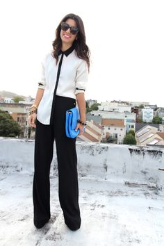 I have been crushing on a very similar blouse from H&M.  This is a great look