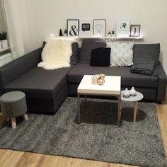 Ikea friheten: living room inspiration with ikeas friheten couch. Living Room Grey, Living Room Sofa, Home Living Room, Living Room Decor, Sofa Design, Bedroom Ideas For Teen Girls Small, Apartment Needs, Ikea Couch, Small Room Bedroom