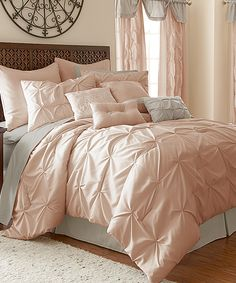 Love this Blush Ella 24-Piece Comforter Set by Colonial Home Textiles on #zulily! #zulilyfinds