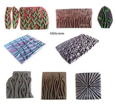 polymer clay by Alkhymeia (flickr) #clay #polymer #stamps #diy #handmade #crafts