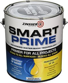 Rustoleum 249729 1 Gallon Smart Prime Primer - Pack of 2 Kitchen Cabinets Parts, Painting Kitchen Cabinets, Bathroom Cabinets, Exterior Stain, Interior And Exterior, Zinsser Primer, Water Based Stain, Painters Tape