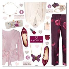 Amorium by mada-malureanu on Polyvore featuring P.A.R.O.S.H., Theory, F.R.S. For Restless Sleepers, Charlotte Olympia, Edie Parker, Amorium, Stila, OPI, women's clothing and women's fashion