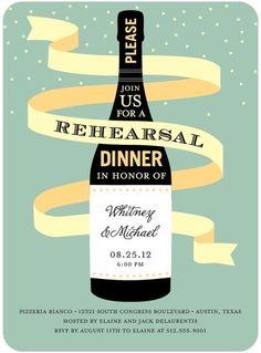 Magnum Celebration - Signature White Rehearsal Dinner Invitations - Pinkerton Design - Basil - Green : Front