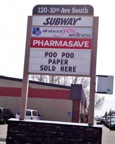 But where can I get Pee Pee paper? (find more funny store signs at funnysigns.net)