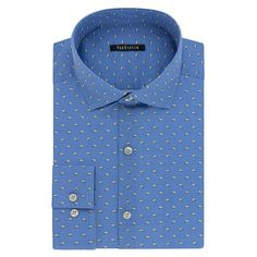 Men's Van Heusen Fresh Defense Extra-Slim Fit Dress Shirt, Size: 14.5-32/33, Blue Other