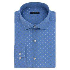 Men's Van Heusen Fresh Defense Slim-Fit Dress Shirt, Size: 15.5-34/35, Blue Other