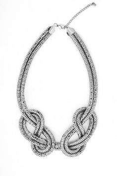 Figure Eight Snake Chain Bib Necklace