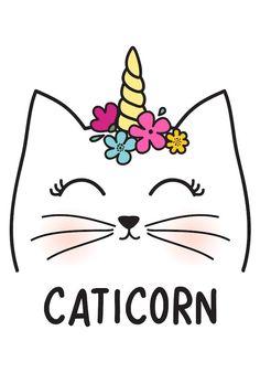 Check out this awesome post: Dibujos kawaii Doodles Kawaii, Cute Kawaii Drawings, Cute Animal Drawings, Unicorn Drawing, Unicorn Cat, Cat Drawing, Kawaii Disney, Unicorn Pictures, Cute Wallpapers