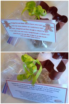 Gingerbread Playdough Gift for students and classmates at Christmas Time.  Cute Tag to attach!
