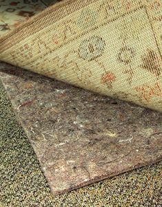 Non Slip Rug Pad | No-Muv Rug Pads from RugPadCorner.com.  For putting area rugs over carpet.  KEEP RUGS FLAT ON CARPET! Not your thin sticky pad, No-Muv is truly the best!