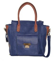Roma Leathers - Concealed Carry Purse - Cross Body Satchel Concealement Gun Purse (Navy)