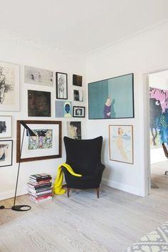 Une maison où l'art à une place de choix
