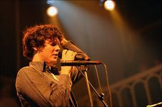 He's Zachary Francis Condon, frontman of one of my recent best favourite band, Beirut. The genre is close to the balkan music even though they're american :).