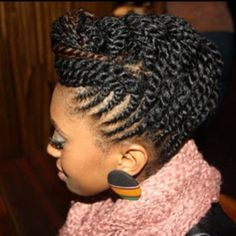 This is one SERIOUS flat/two strand twist combo... Love! #naturalhair {Naturalista07}