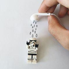 Construction Toys of the Year Legos, Minifigura Lego, Lego Craft, Lego Stormtrooper, Lego Star Wars, Whatsapp Dp, Lego Humor, Aniversario Star Wars, Lego Pictures
