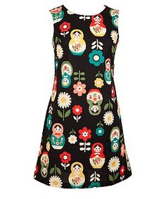 #SWAG: Shift Dress - Easy to wear, timeless classic, sleeveless, slightly A line - love the Russian Doll Fabric! £78.00