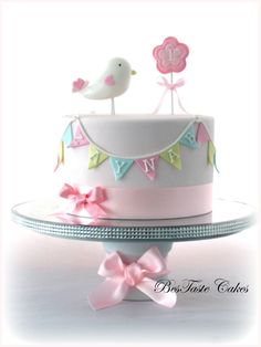 https://flic.kr/p/ei1cso | Little bird cake | Girl's 1st birthday cake