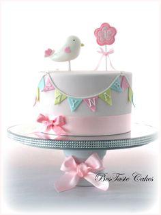 Little bird cake | Girl's 1st birthday cake | BesTaste Cakes | Flickr