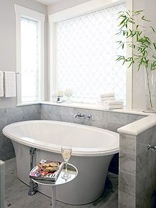 ...and another. I would take a bath everyday in this tub. Love freestanding deep tubs.