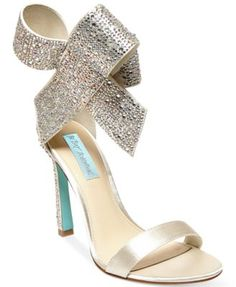 I need these! Not necessarily to wear, but to look at everyday lol Blue by Betsey Johnson Up Do Evening Sandals