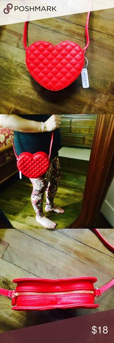 Quilted Heart Crossbody ❤️ NWT// The cutest little crossbody EVER! It can fit the essentials and make your outfit look amazing! ❤️❤️❤️❤️ Charming Charlie Bags Crossbody Bags