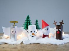 basteln mit klorollen weihnachtsdeko weihnachtsfiguren