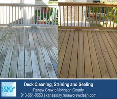 http://kansascity.renewcrewclean.com – The uneven colors and surfaces of this elevated deck are uniform and vibrant after Renew Crew of Johnson County's proprietary deck cleaning and staining process. We serve Kansas City plus Johnson County KS including Overland Park, Olathe, Shawnee, Lenexa and Leawood. Free estimates.