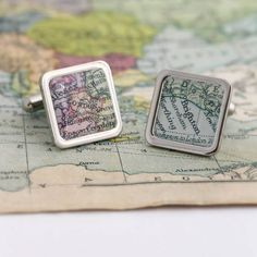 These unique cufflinks are a available in round or square featuring a vintage style map of the location of your choice! Available To Buy Now From Prezzybox at Personalised Vintage Map Cufflinks In Stock With Fast, UK Delivery. International Map, Unique Gifts, Best Gifts, Unique Presents, Valentines Gifts For Him, Vintage Maps, Holiday Gifts, Christmas Gifts, Diy