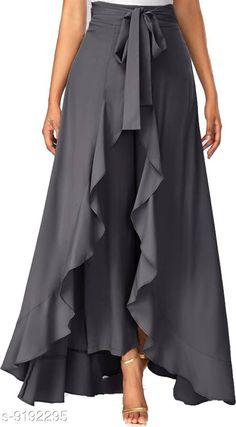 Palazzos Shree Ramkrishna Fab Flared Women Maroon crepe palazzo Fabric: Crepe Pattern: Self-Design Multipack: 1 Sizes: