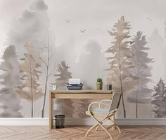 Norway Forest Wallpaper Removable Wallpapers Living Room