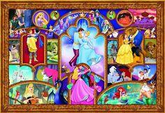 Disney Princess Jigsaw Puzzle 2000 Piece... I WANT Disney Family, Disney Love, Disney Magic, Disney Art, Disney Couples, Disney Dream, Disney Style, Disney Cross Stitch Patterns, Modern Cross Stitch Patterns