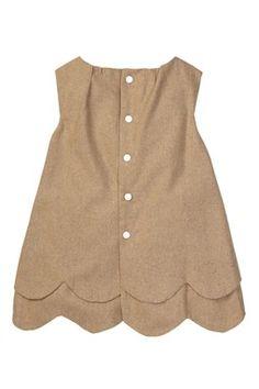 Paulinie: Sleeveless Scalloped Shift Dress
